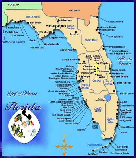 map of florida coast beaches florida map of beaches on gulf coast images