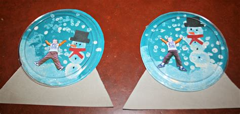 Paper Snow Globe Craft - two bears farm and the three cubs snow globe craft