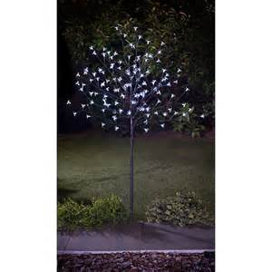 solar outdoor tree lights solar powered led solar blossom tree 4ft static amp flashing