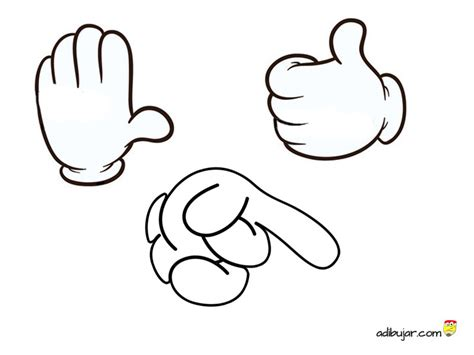 imagenes manos ok dibujos de manos de mickey mouse para colorear e imprimir