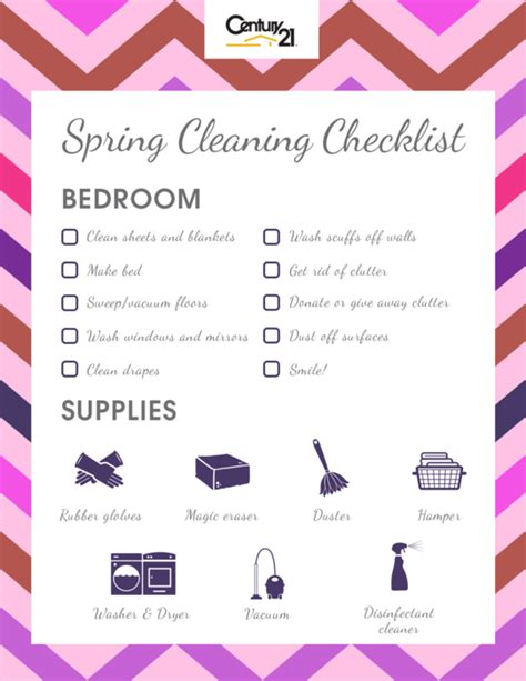 cleaning bedroom checklist cleaning checklist bedroom century 21 174