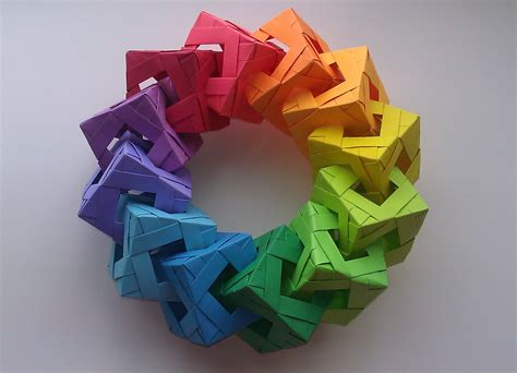 Origami Cool Box - origami cube ring tutorial