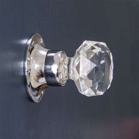 Glass Door Handles Uk Cut Glass Door Knobs Chrome