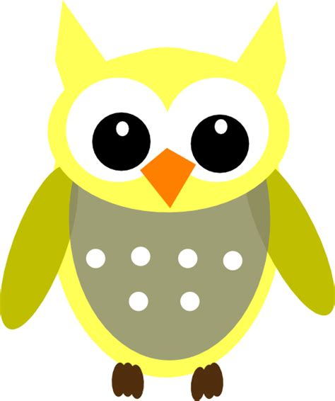 owl clipart free yellow gray owl clip at clker vector clip