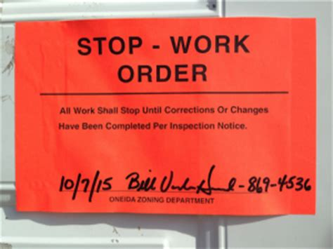 Stop Work Order by Diane Stumph Vs Oneida Tribe Of Indians Of Wisconsin