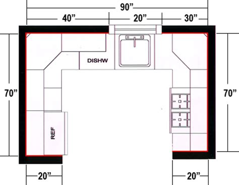 kitchen design measurements g shaped kitchen floor plans afreakatheart