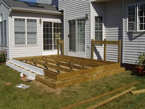 patio design plans floating deck plans designs floating deck against house
