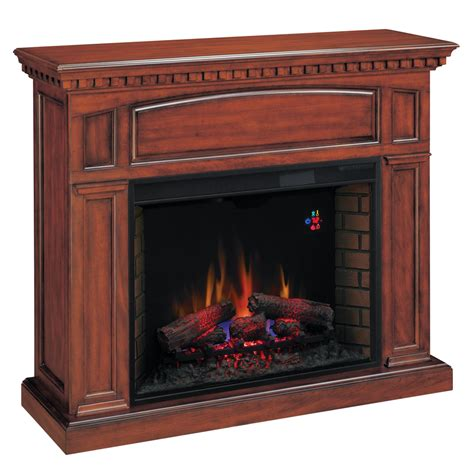 lowes electric fireplace shop chimney free 53 in w 4 600 btu premium cherry wood