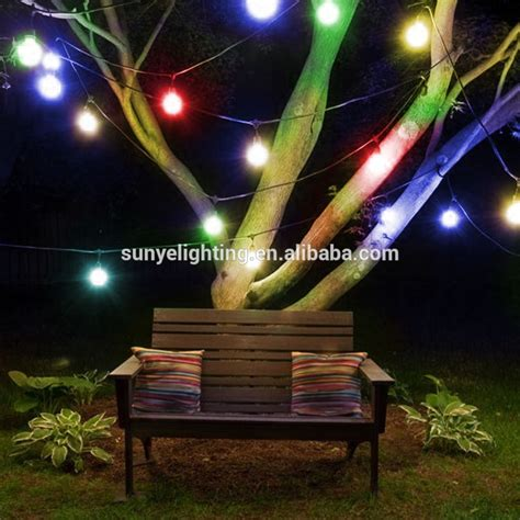 led color changing string lights with remote 48 feet led outdoor weatherproof string light color