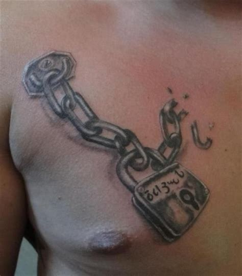 broken chain tattoo padlock and broken chain tattoos beautiful