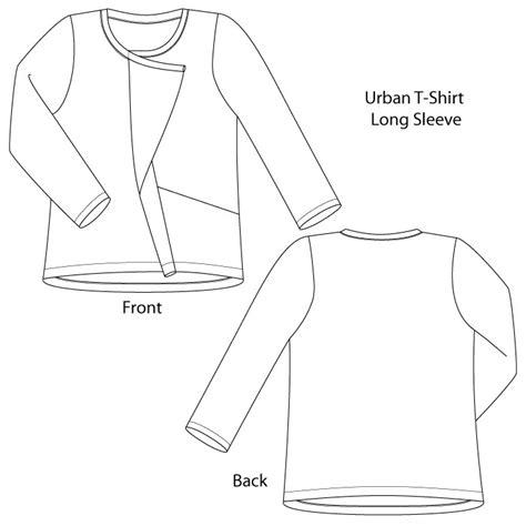 sewing workshop trio t shirt top pants urban t shirt pants pattern from the sewing workshop