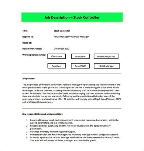 Credit Controller Description Template Controller Description Template 11 Free Word Pdf Format Free Premium Templates