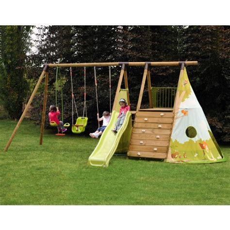 altalene e scivoli da giardino parco giochi per bambini fort jungle con altalene e