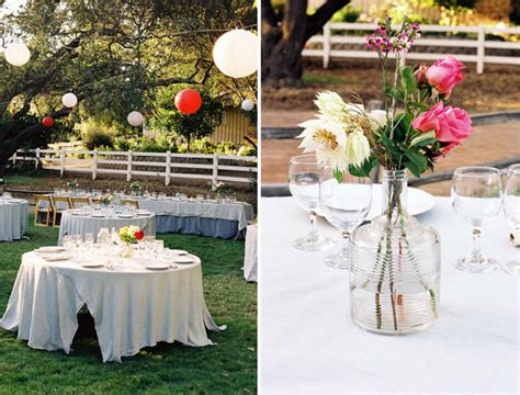 A Backyard Wedding Once Wed Backyard Wedding Centerpiece Ideas