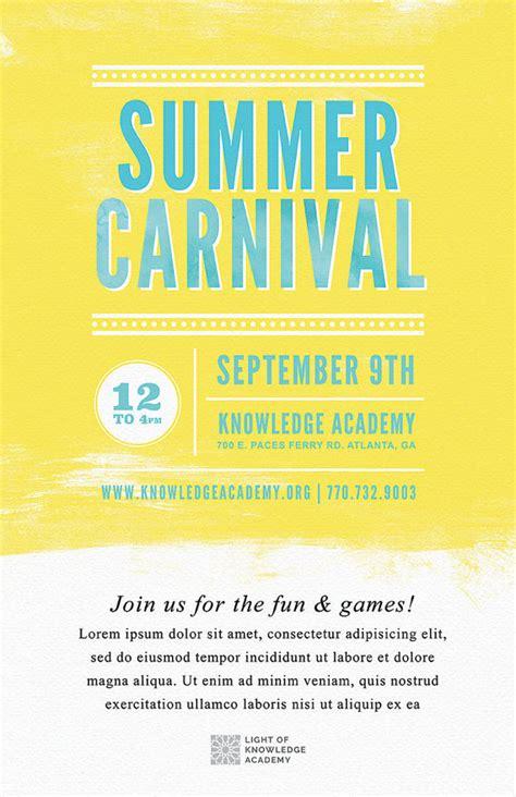 free school carnival flyer templates diy printable summer school carnival flyer template word
