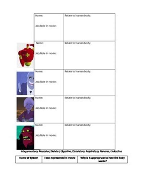The Biology Of Osmosis Jones Worksheet Answers by Osmosis Jones Worksheet By Prei Tpt