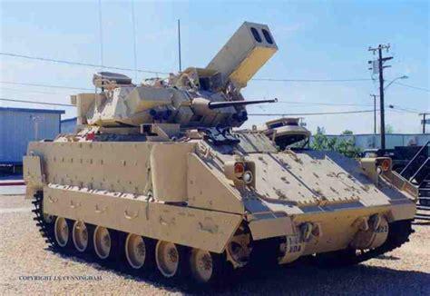 military air vehicles m6 linebacker bradley air defense light armoured vehicle