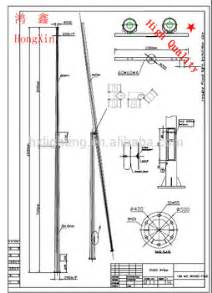 15 m folding street lighting pole mid hinged galvanized