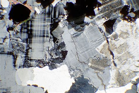 granite in thin section rocks of nw scotland rock sle images