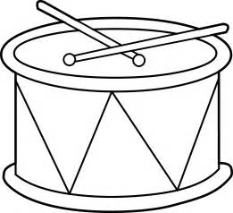 Marching Drum Coloring Page Free Clip Art