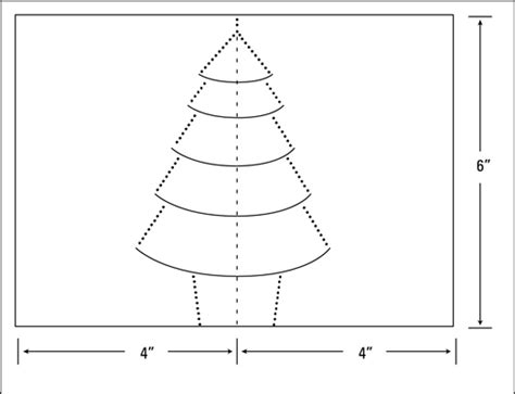 tree pop up template how to make a pop up tree card dummies