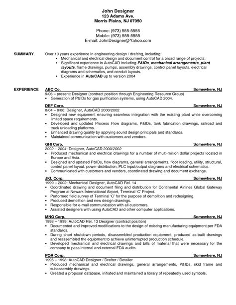 Resume Exles Drafting Design Definition Of Resume Template Learnhowtoloseweight Net