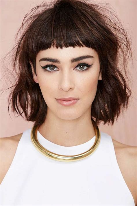 long choppy bob with fringe bangs hairstyles for short hair short bangs bang