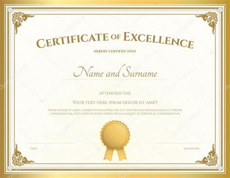 Modele Diplome Gratuit Bordure