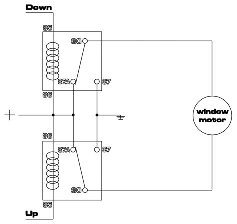 12v power window relay schematic get free image about