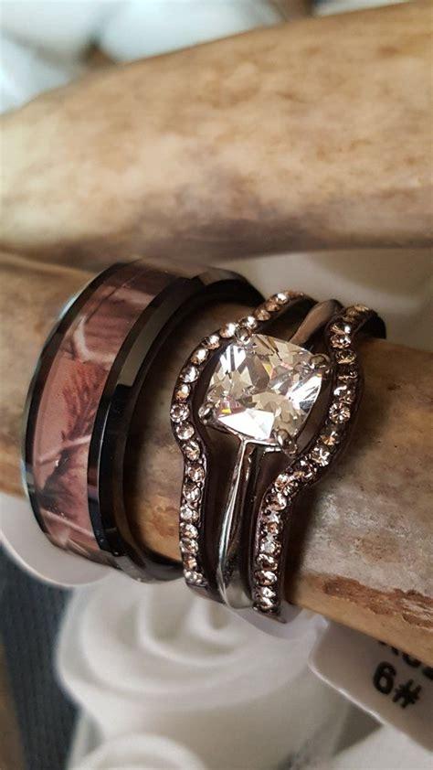 trending camo wedding engagement ring sets