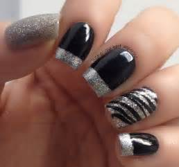 Black and silver nail design pinterest
