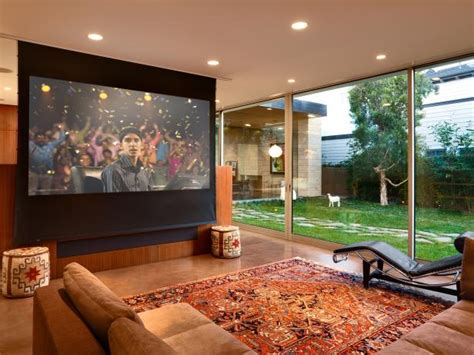 Outdoor Kitchen Designs For Small Spaces Learn How To Install A Media Room Projector Screen How