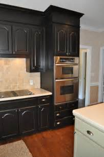 Black Kitchen Cabinets by The Collected Interior Black Painted Kitchen Cabinets
