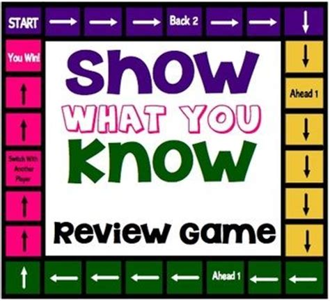 show what you know interactive review game template for