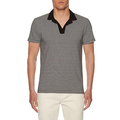 Attaquer Jersey Static Stripe Ss Jersey Powder Blue 1 s designer polo shirts orlebar brown