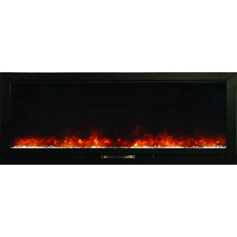 y decor knock out 70 in recessed electric fireplace in