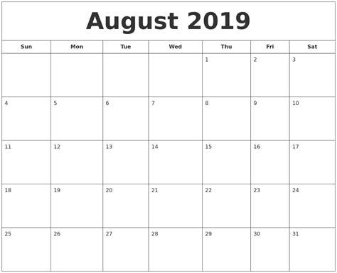 printable calendar august july 2019 calendar