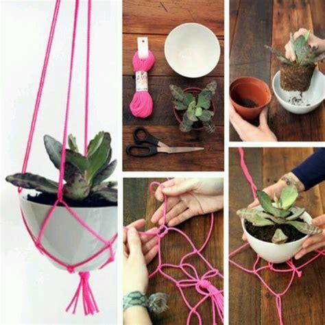 hanging plant diy diy hanging basket spring has sprung pinterest