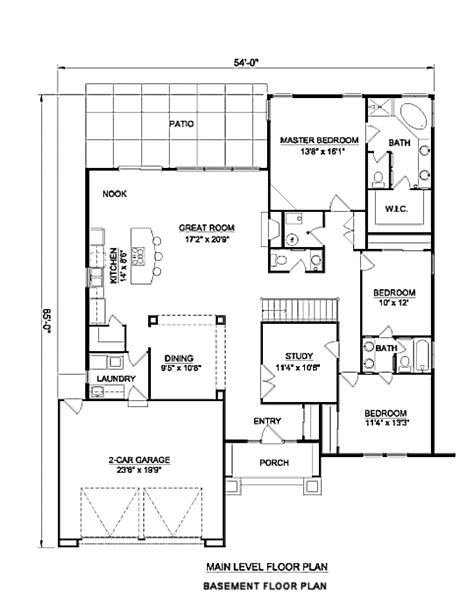 adobe house plans adobe southwestern style house plan 3 beds 2 baths 2142 sq ft plan 116 296