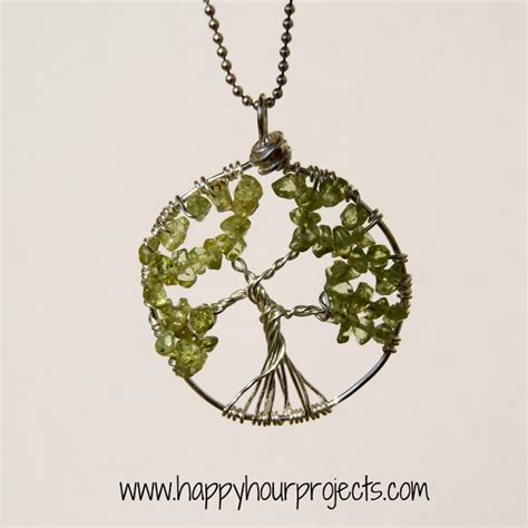 Diy Wire Wrapped Tree Necklace Home And Diy