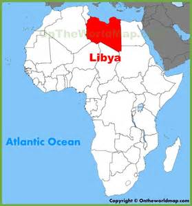 Libya World Map by Libya Location On The Africa Map