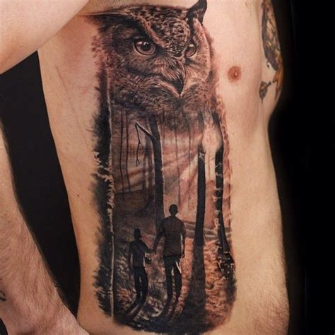 father son tattoos ideas owl and done by luka lajoie artrock
