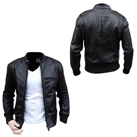 Jacket Bomber Kulit Bomber Leather Bomber Pria leather jackets leather jackets shop fashion