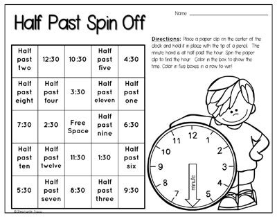 printable time games year 2 time activities for first grade primary theme park