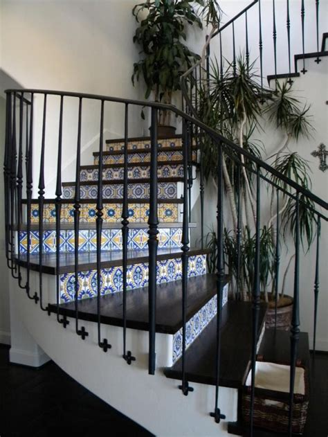 Home Interiors Puerto Rico by 9 Spanish Style Tiled Stair Risers Remodelista