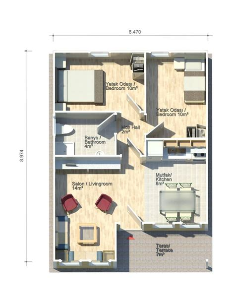 sqft to sqmeter petunya 51 square meters floor plan kit homes