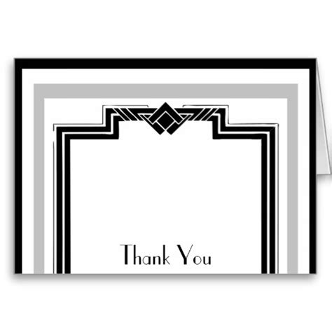 Free Deco Business Card Template by Thank You Black And White Clipart Panda Free Clipart