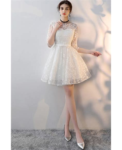 Dress White Pretty pretty white aline homecoming dress with