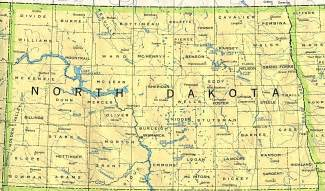 North Dakota Map Usa by North Dakota Outline Maps And Map Links