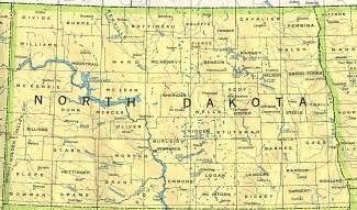 North Dakota Map Usa north dakota outline maps and map links
